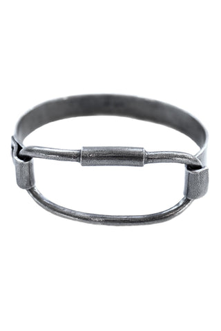 Shop Emerging Avant-garde Slow Fashion Unisex Brand Draug Jewellery Silver Fjord Cuff at Erebus