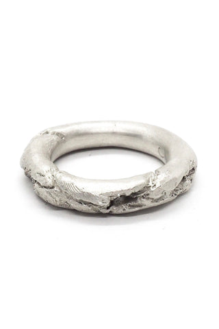 Shop Emerging Slow Fashion Avant-garde Jewellery Brand OSS Haus Broken Dreams Collection White Silver Dream Ring at Erebus
