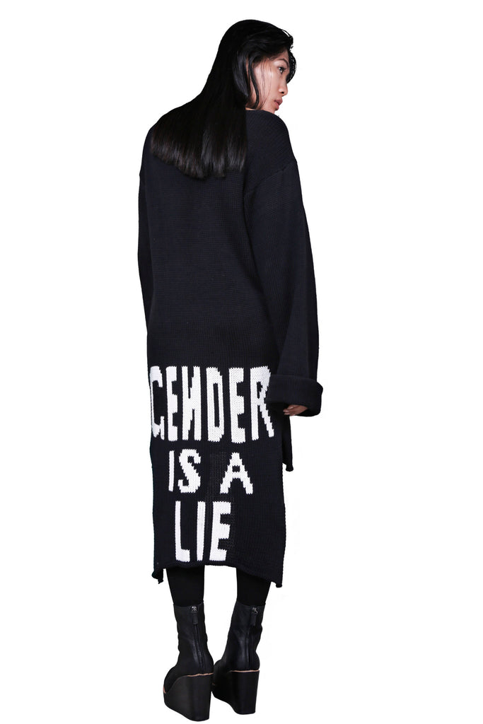 Shop Emerging Avant-garde Genderless Avant-garde Designer Mark Baigent GIAL (Gender is a lie) Sweater at Erebus