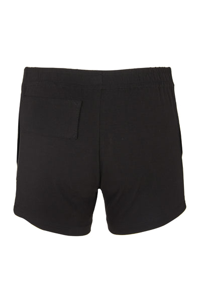 Shop Emerging Slow Fashion Avant-garde Unisex Brand Dhenze Kollektion 5 Black and Grey Mini Shorts at Erebus
