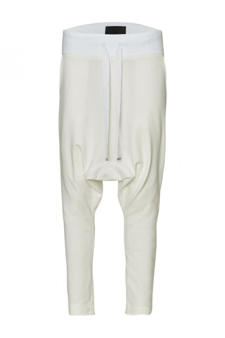 Shop Emerging Unisex Street Brand Monochrome Off-White Gusset Sweatpants at Erebus