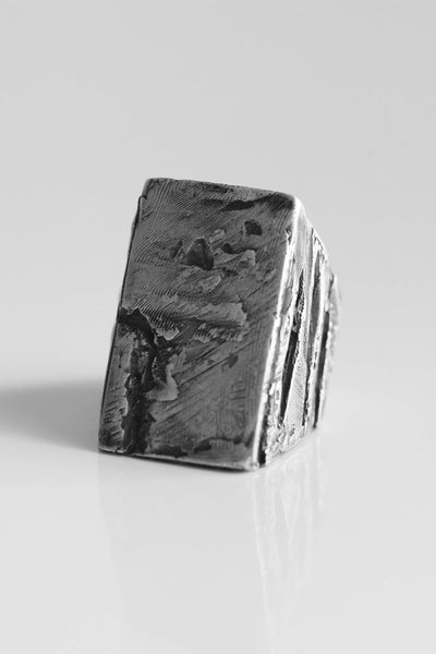 Shop Emerging Avant-garde Jewellery Brand OSS HL Signet Ring at Erebus