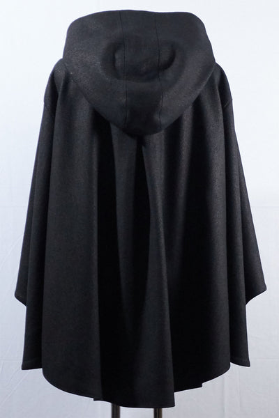 Shop Emerging Dark Luxury Avant-garde Designer Pavlina Jauss Mythology Collection Black Hades Cape at Erebus