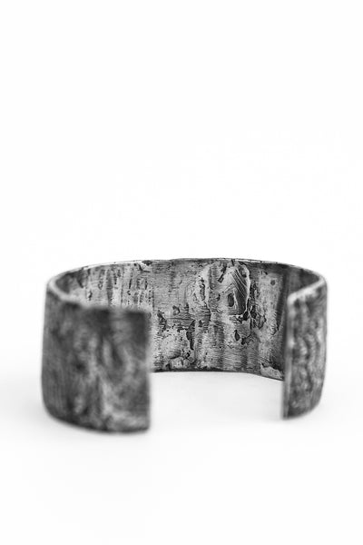 Shop avant-garde brands OSS x Army of Me collaboration Silver Half Massive Bangle at Erebus