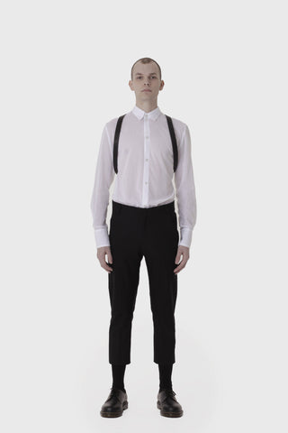 Shop Emerging Slow Fashion Avant-garde Menswear Designer Marco Scaiano Leather Odin Harness at Erebus