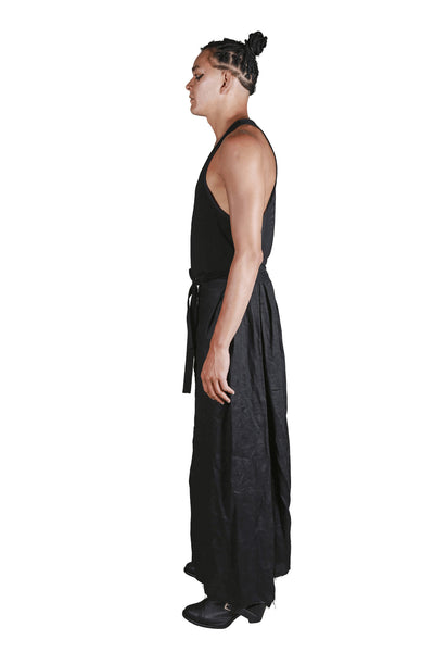 Shop Emerging Slow Fashion Genderless Avant-garde Designer Mark Baigent Rhiannon Collection Black Höni Skirt at Erebus