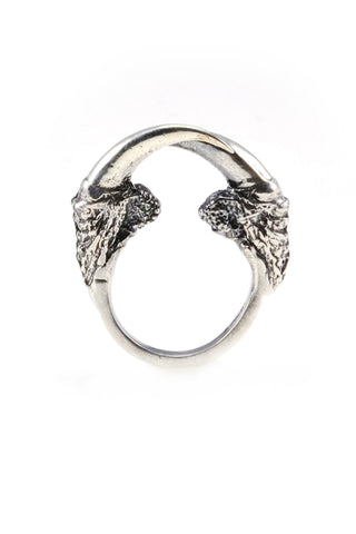 Shop emerging ethical fashion jewellery brand Eilisain Hunted II Silver Small Talon Ring - Erebus