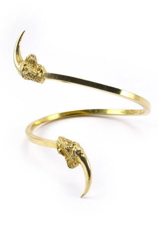Shop emerging slow fashion jewellery brand Eilisain Hunted II Single Owl Talon Cuff Gold - Erebus - 1