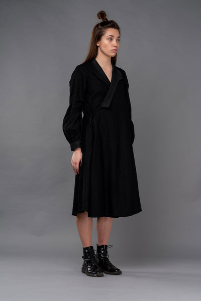 Shop Emerging Dark Conceptual Brand Anagenesis Black Kimono Jacket at Erebus