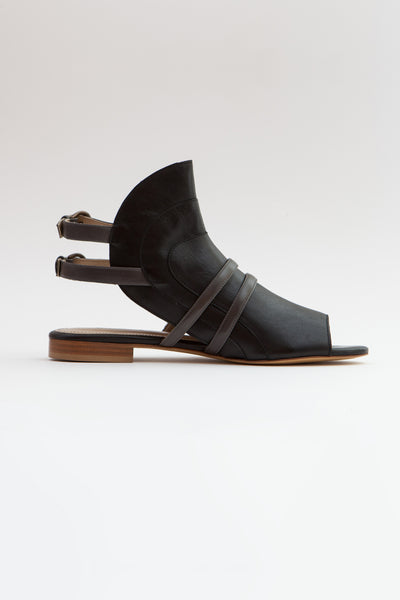 Shop Emerging Slow Fashion Shoe Designer Rana Cheikha Arqa Sandals at Erebus