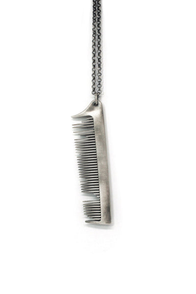 Shop Emerging Slow Fashion Avant-garde Jewellery Brand Gothmos Sterling Silver Broken Comb Necklace at Erebus