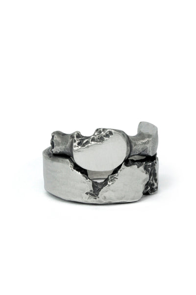 Shop Emerging Slow Fashion Avant-garde Jewellery Brand Gothmos Sterling Silver Mystery Ring at Erebus