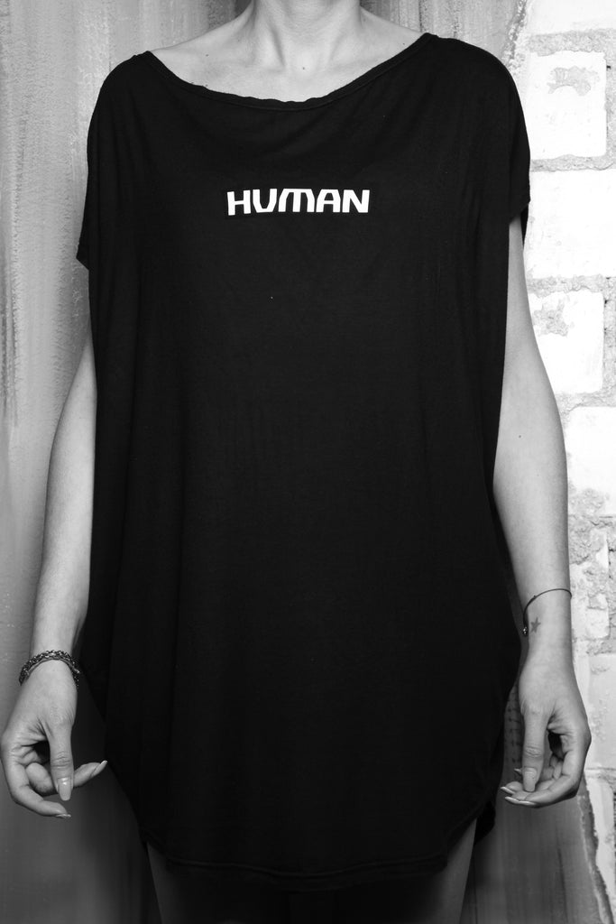 Shop #beHUMAN Women's Sleeveless T at Erebus Shop for a cause