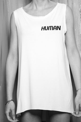 Shop #beHUMAN Women's Sleeveless Vest at Erebus Shop for a cause