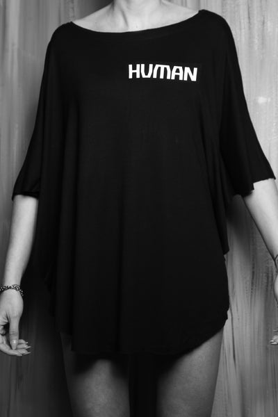 Shop #beHUMAN Women's Short Sleeve T at Erebus Shop for a cause