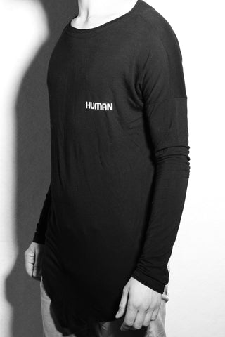 Shop #beHUMAN Men's Long Sleeve T at Erebus Shop for a cause