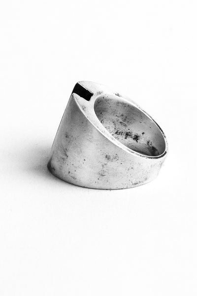Shop Emerging Slow Fashion Avant-garde Jewellery Brand OSS Haus Awakening Collection Silver Imperial Ring at Erebus