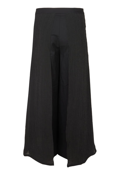 Shop Emerging Slow Fashion Avant-garde Unisex Brand Dhenze Kollektion 5 Two Tone Hakama Trousers at Erebus