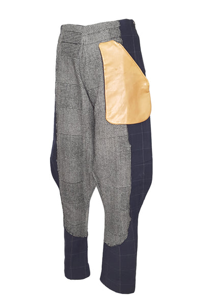 Shop Emerging Conscious Avant-garde Gender-free Brand Supramorphous Wool Juxtapox Pants at Erebus