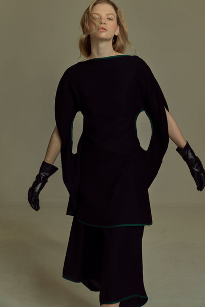 Shop Emerging Dark Luxury Avant-garde Designer Pavlina Jauss Mythology Collection Black Pandora Dress at Erebus