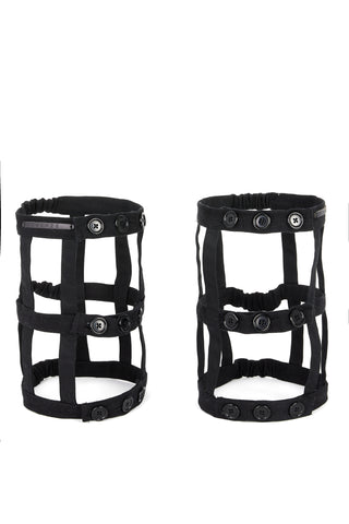 Shop Emerging Slow Fashion Avant-garde Unisex Brand Dhenze Kollektion 5 Black Thigh Harness at Erebus