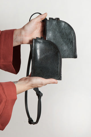 Shop Emerging Conscious Avant-garde Designer Brand MDK Miranda Kaloudis Avantgarder Waxed Horse Leather Lemos Wallet at Erebus