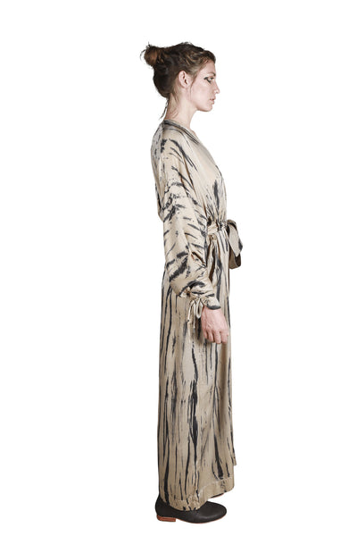Shop Emerging Slow Fashion Genderless Avant-garde Designer Mark Baigent Rhiannon Collection Batik Landslide Jumpsuit at Erebus