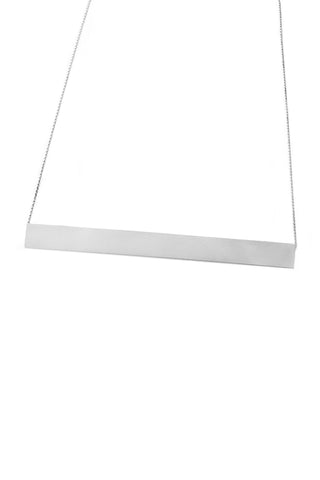 Shop Emerging Structural Jewellery Brand Conservation of Matter Matte Silver Large Horizontal Necklace at Erebus