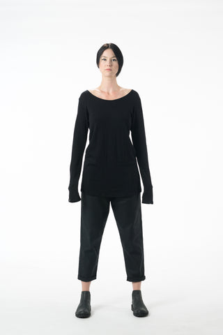 Shop Emerging Dark Conscious Gender-free Designer Lauri Jarvinen Zero Waste Black Wool Blend W Casual Shirt at Erebus
