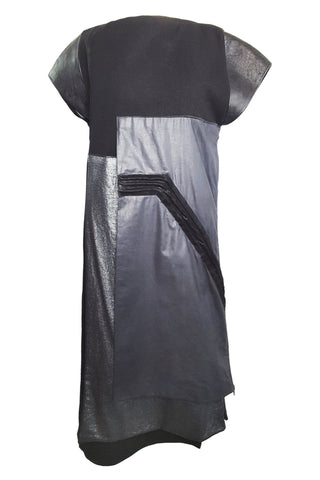 Shop Emerging Conscious Avant-garde Gender-free Brand Supramorphous Black Unisex Layered Dress at Erebus