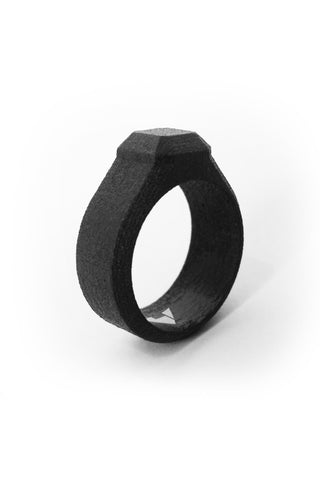 Shop Emerging Men's Jewellery Brand Bazelet Black Loki RAW Ring at Erebus