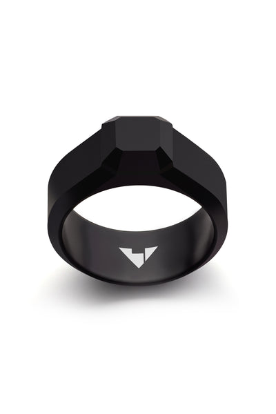 Shop Emerging Men's Jewellery Brand Bazelet Black Loki Ring at Erebus