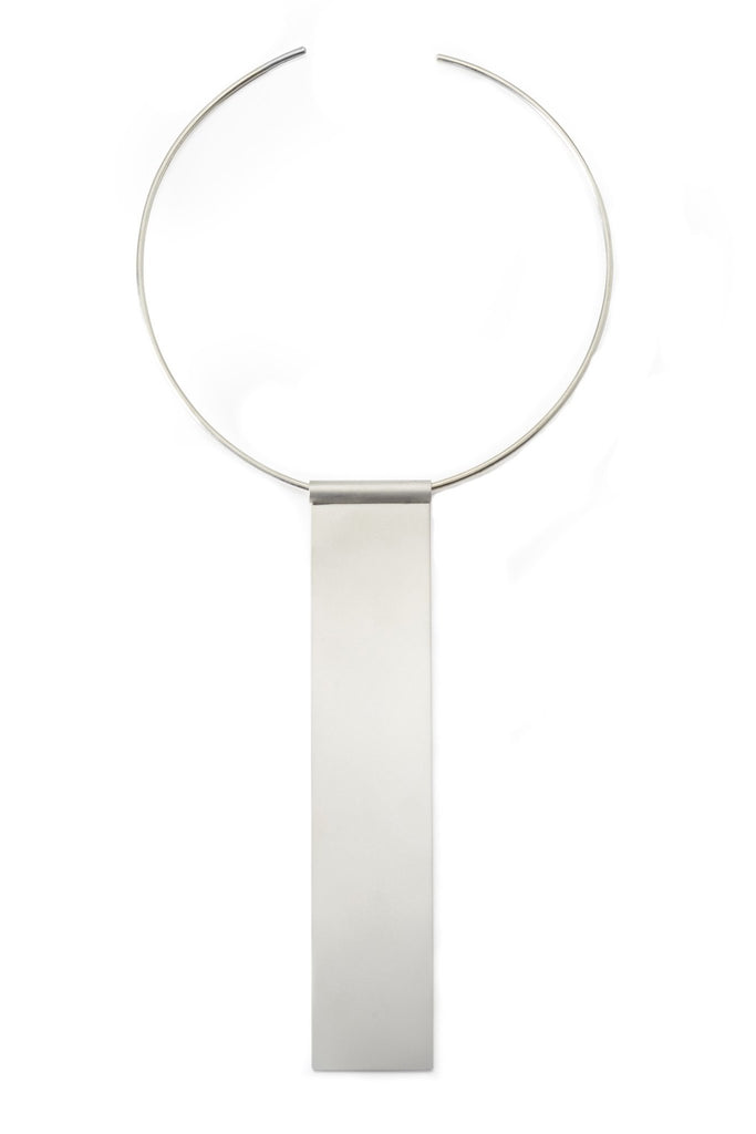 Shop Emerging Structural Jewellery Brand Conservation of Matter Long Rectangle Collar at Erebus