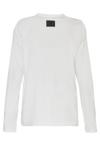 Shop Emerging Unisex Street Brand Monochrome White AW19 Long Sleeve Tee at Erebus