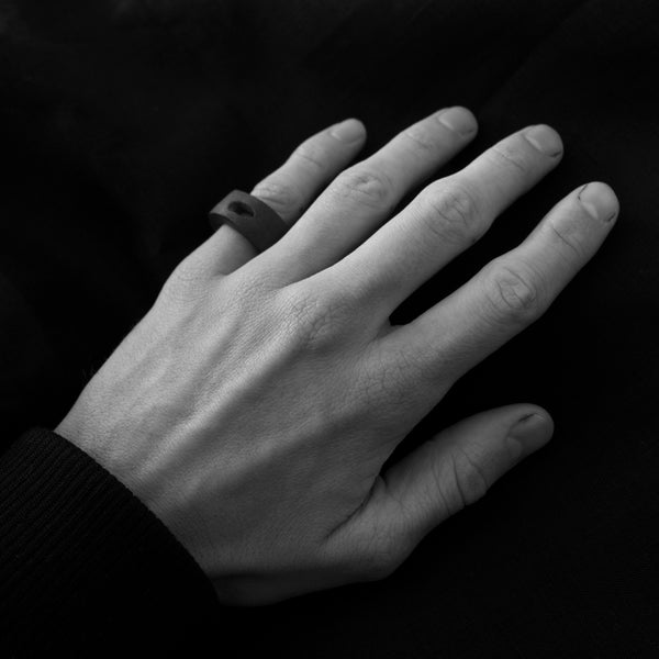 Shop Emerging Slow Fashion Avant-garde Brand Surface/Cast Loss Ring at Erebus