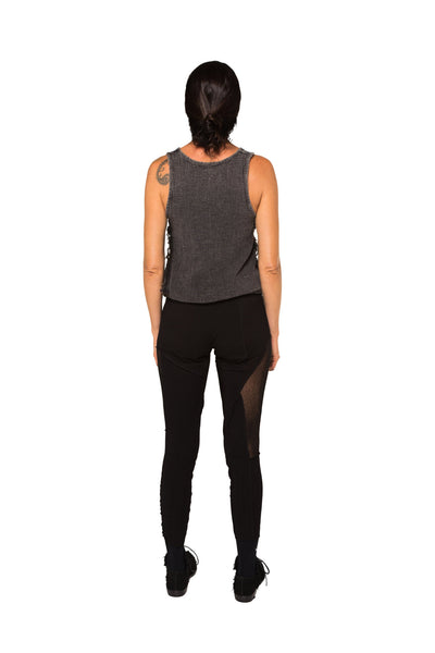 Shop Emerging Slow Fashion Genderless Avant-garde Designer Mark Baigent UNITAS Collection Black Atlas Leggings at Erebus