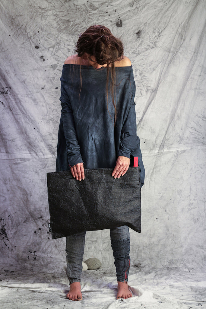 Shop Emerging Slow Fashion Conscious Conceptual Brand Things I Miss Black Pinatex Pismo Bag at Erebus
