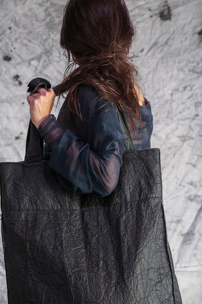 Shop Emerging Slow Fashion Conscious Conceptual Brand Things I Miss Black Piñatex Velik Kolo Bag at Erebus