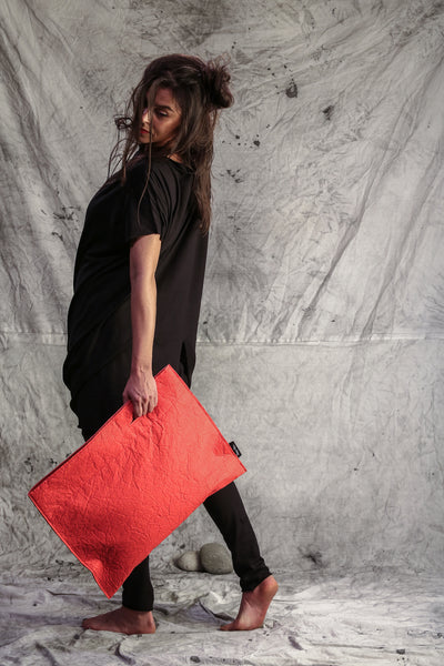 Shop Emerging Slow Fashion Conscious Conceptual Brand Things I Miss Paprika Pinatex Pismo Bag at Erebus