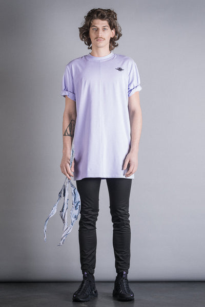 Shop Conscious Contemporary Brand Zsigmond Dora Menswear Rural Explorer AW20 Collection Thistle Long Fit Organic Cotton Edve T-Shirt at Erebus