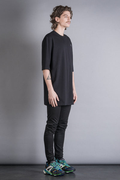 Shop Conscious Contemporary Brand Zsigmond Dora Menswear Rural Explorer AW20 Collection Black Organic Cotton Vadna Oversized T-shirt at Erebus