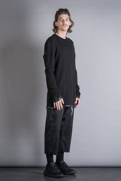Shop Conscious Contemporary Brand Zsigmond Dora Menswear Rural Explorer AW20 Collection Black Cropped Zádor Pants at Erebus