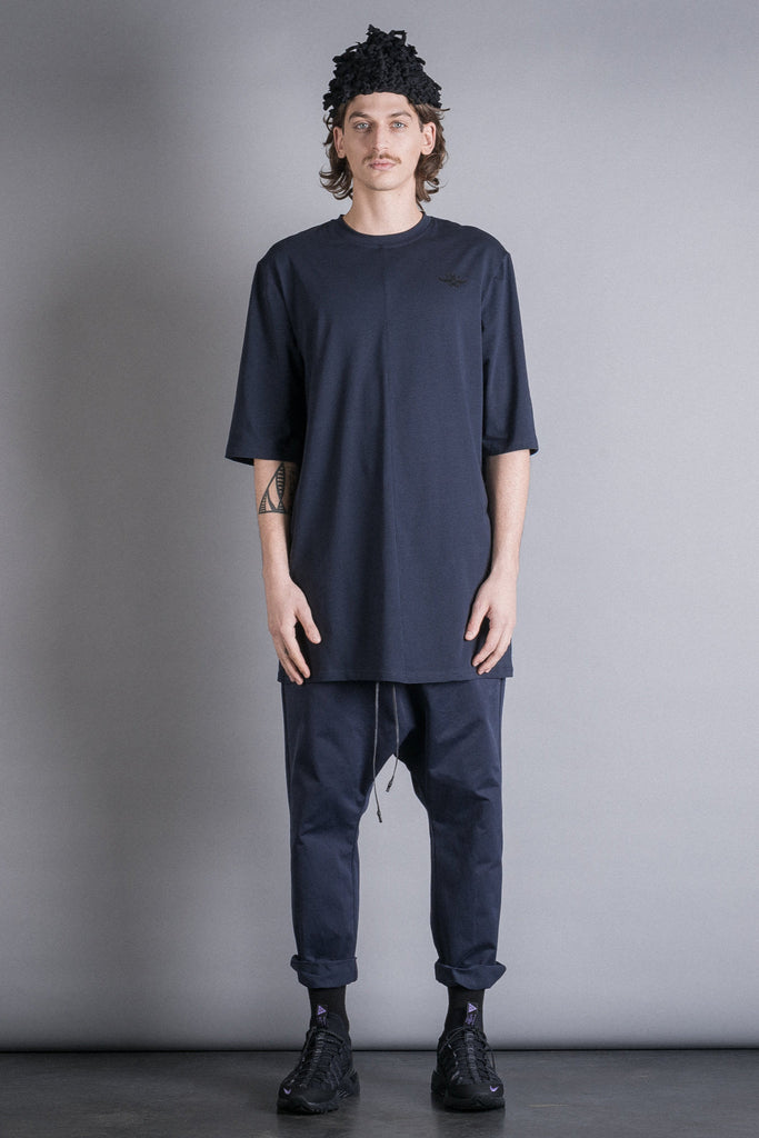 Shop Conscious Contemporary Brand Zsigmond Dora Menswear Rural Explorer AW20 Collection Royal Blue Relaxed Fit Áta Pants at Erebus