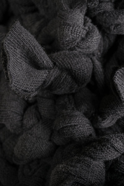 Shop Conscious Contemporary Brand Zsigmond Dora Menswear Rural Explorer AW20 Collection Black Zero Waste Sitke Beanie at Erebus