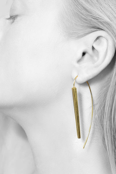 Shop Emerging Minimalist Avant-garde Jewellery Brand B KREB Gold ORRiv Earrings at Erebus