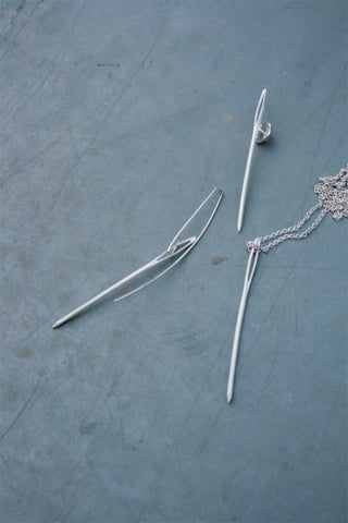 Shop Emerging Slow Fashion Avant-garde Jewellery Brand Gothmos Silver Needle Collection at Erebus