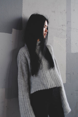 Shop Emerging Conscious Zero Waste Knit Designer Fintan Mulholland Illirski Jumper at Erebus