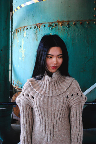 Shop Emerging Conscious Zero Waste Knit Designer Fintan Mulholland Naqada Jumper at Erebus