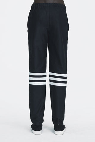 Shop Emerging Ethical Slow Fashion Men's Streetwear Brand MLTV DEsign Trousers at Erebus