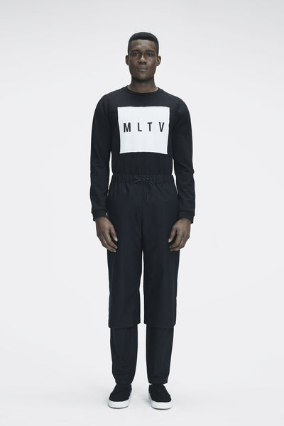 Shop Emerging Ethical Slow Fashion Men's Streetwear Brand MLTV Logo Sweater at Erebus